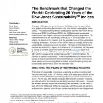 The Benchmark that Changed the World: Celebrating 20 Years of The Dow Jones Sustainability Indices