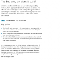 The Fed cuts, but does it cut it?
