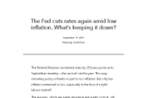 The Fed cuts rates again amid low inflation. What's keeping it down?