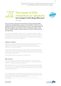 The impact of ESG momentum on valuations