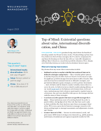 Top of Mind: Existential questions about value, international diversification, and China