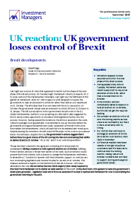 UK reaction: UK government loses control of Brexit