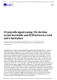 US payrolls signal easing, UK election seems inevitable and ECB between a rock and a hard place