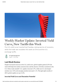 Weekly Market Update: Inverted Yield Curve, New Tariffs this Week