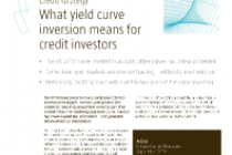What yield curve inversion means for credit investors