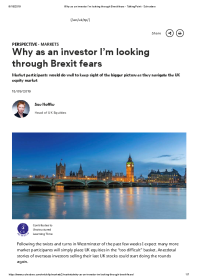 Why as an investor I'm looking through Brexit fears