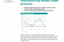 World trade and manufacturing remain under pressure