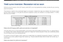 Yield curve inversion: Recession not so soon