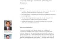 3Q19 Earnings bulletin: Skating on thin ice