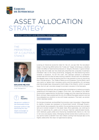 Asset Allocation Strategy October 2019
