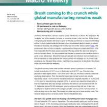 Brexit coming to the crunch while global manufacturing remains weak