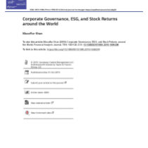 Corporate Governance, ESG, and Stock Returns around the World