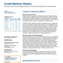 Credit Markets Weekly