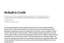 Default is Credit