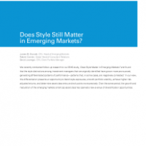Does Style Still Matter in Emerging Markets?