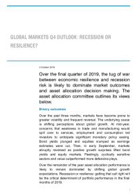 Global markets q4 outlook: recession or resilience?