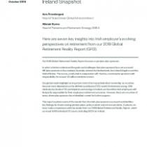 Global Retirement Reality Report Ireland Snapshot