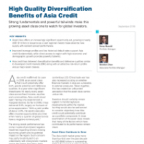 High Quality Diversification Benefits of Asia Credit