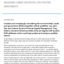 Insurance-Linked Securities: Esg-Positive Investments