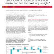 Labor force participation: Is the labor market too hot, too cold, or just right?