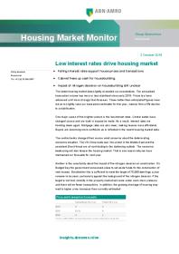 Low interest rates drive housing market
