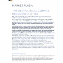 Market Flash: The Geopolitical Climate Recovers A Little