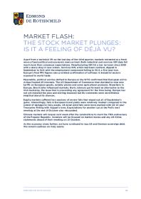 Market Flash – The stock market plunges: is it a feeling of déjà vu?