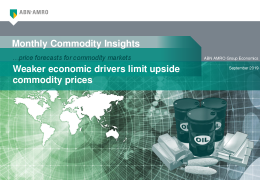 Monthly Commodity Insights –  …price forecasts for commodity markets