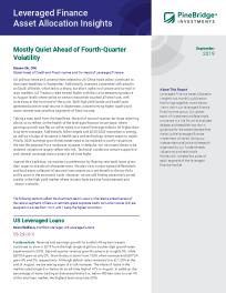 Mostly Quiet Ahead of Fourth-Quarter Volatility