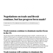 Negotiations on trade and Brexit continue, but has progress been made