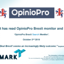 Parliament has read OpinioPro Brexit monitor and took action!