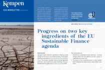 Progress on two key ingredients of the EU Sustainable Finance agenda