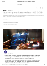 Quarterly markets review – Q3 2019