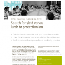 Search for yield versus lurch to protectionism