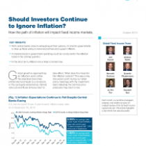 Should Investors Continue to Ignore Inflation?