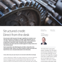 Structured credit: Direct from the desk