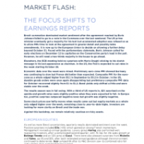 The Focus Shifts To Earnings Reports