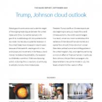 The Macro Report – Trump, Johnson cloud outlook