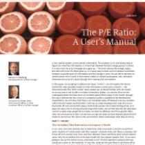 The P/E Ratio: A User's Manual