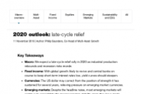 2020 outlook: late-cycle relief