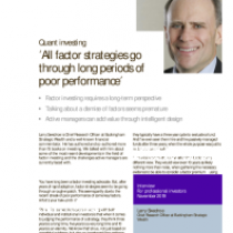 All factor strategies go through long periods of poor performance