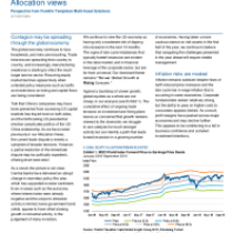 Allocation views – Contagion may be spreading through the global economy