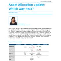Asset Allocation update: Which way next?
