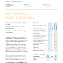 Bond rally reflects economic uncertainty