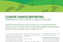 Climate Change Reporting Preparing For A Zero-Carbon Future