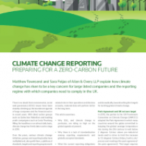 Climate Change Reporting Preparing For A Zero-Carbon Future