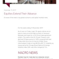 Equities Extend Their Advance