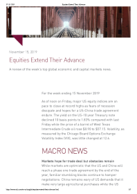 Equities Extend Their Advance
