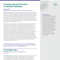 Favoring Loans and CLOs Due to Attractive Valuations