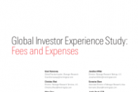 Global Investor Experience Study: Fees and Expenses